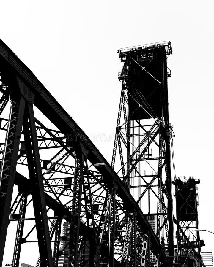 Hawthorne Street Bridge, Portland immagini stock