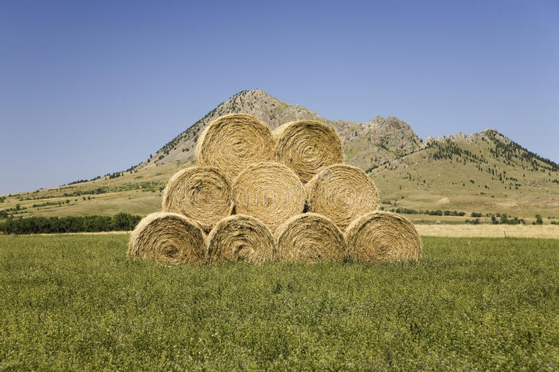 Download Hay Bails Stacked Along US 34 Stock Photo - Image: 27074120