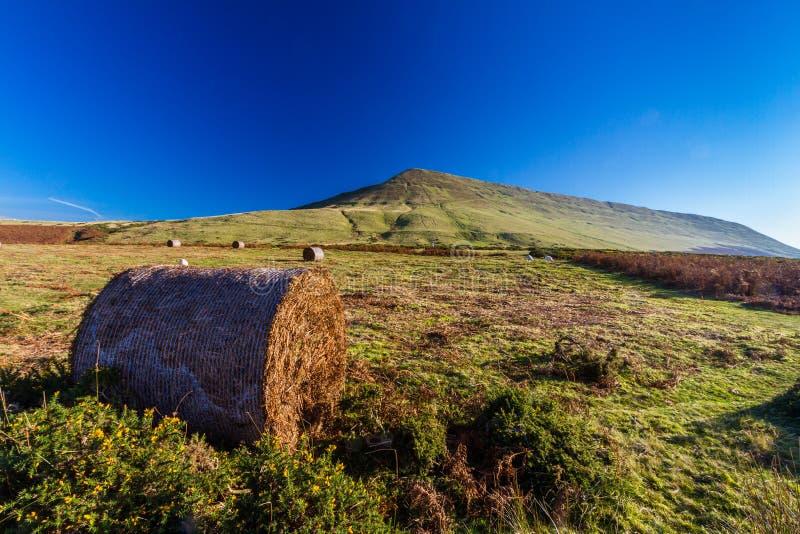 Hay Bluff, Penybegwn, punto di riferimento in Galles fotografie stock libere da diritti