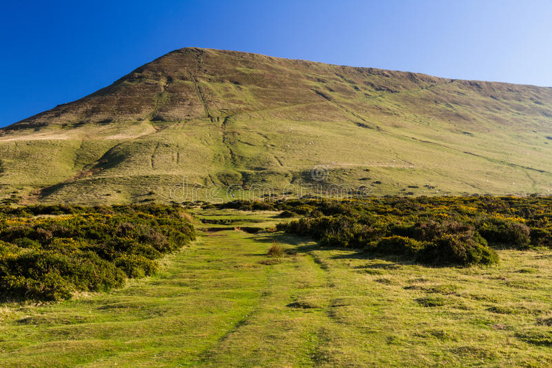 Hay Bluff, Penybegwn, punto di riferimento in Galles immagini stock libere da diritti