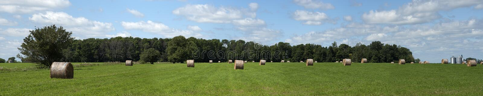 Download Hay Field Bales Farm Land Panorama, Banner Stock Photo - Image: 15611660