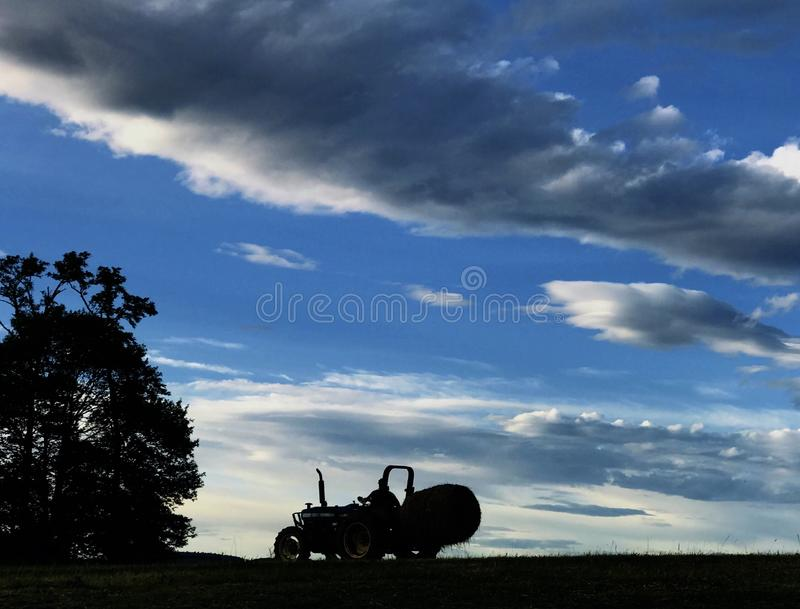 Hay Field royalty-vrije stock foto's