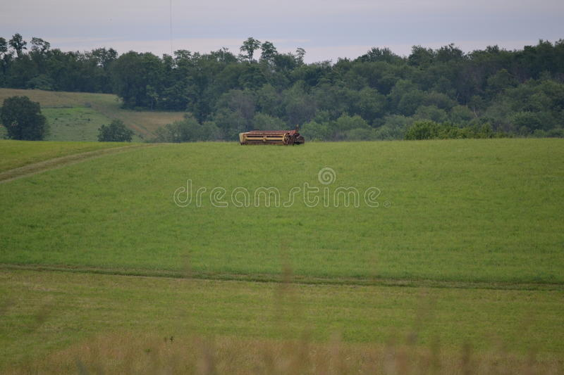 Hay Fields At Rest imagem de stock royalty free