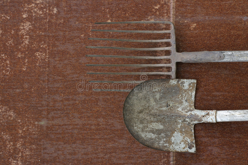 Download Hay-fork and blade stock image. Image of blade, rust, craft - 474869