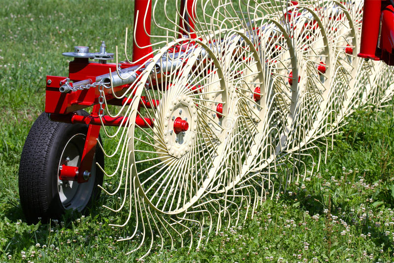 Download Hay Rake stock photo. Image of automate, field, mechanical - 15367530