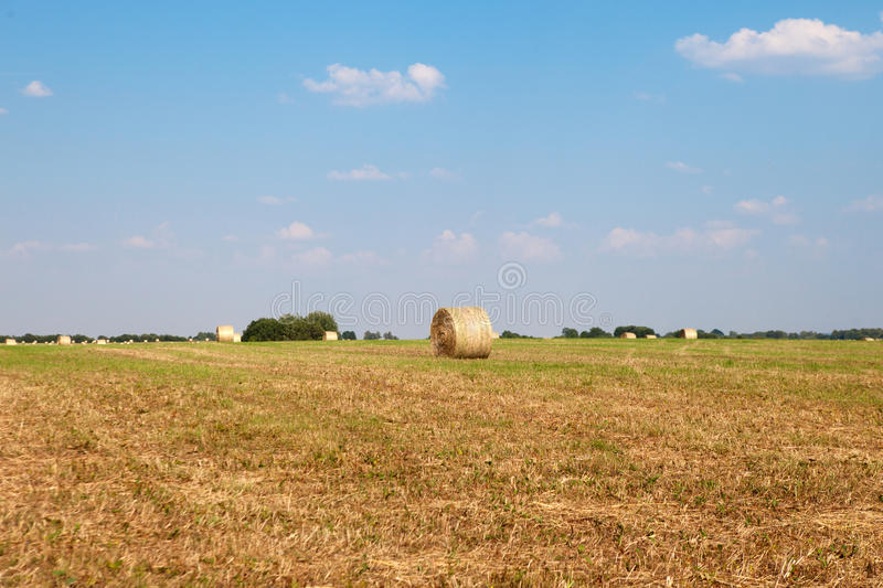 Hay Roll On une ferme photographie stock