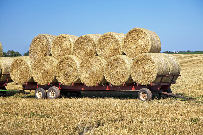 Hay Wagon Royalty Free Stock Photo