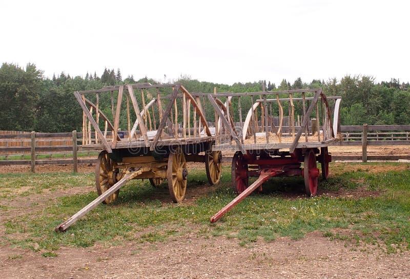 Hay Wagons image libre de droits