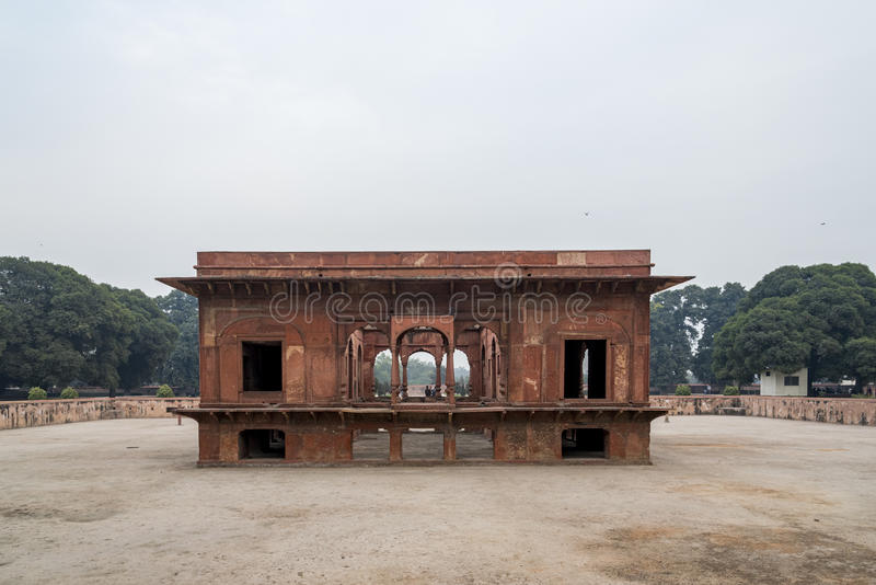 Hayat Bakhsh Bagh jest w północny wschód części Czerwony fortu kompleks w New Delhi, India zdjęcia stock