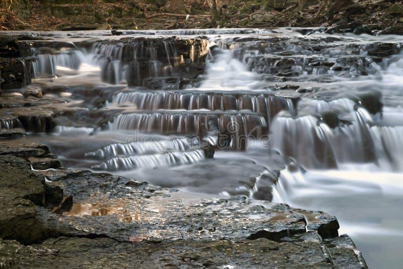 Hayden Falls localizó en Ohio central fotografía de archivo libre de regalías