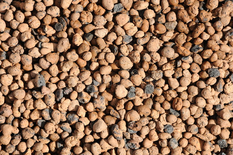 Haydite background. Expanded clay aggregate patern background stock image