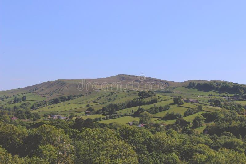 Hayfield, Höchstbezirk, englische Landschaft lizenzfreies stockfoto