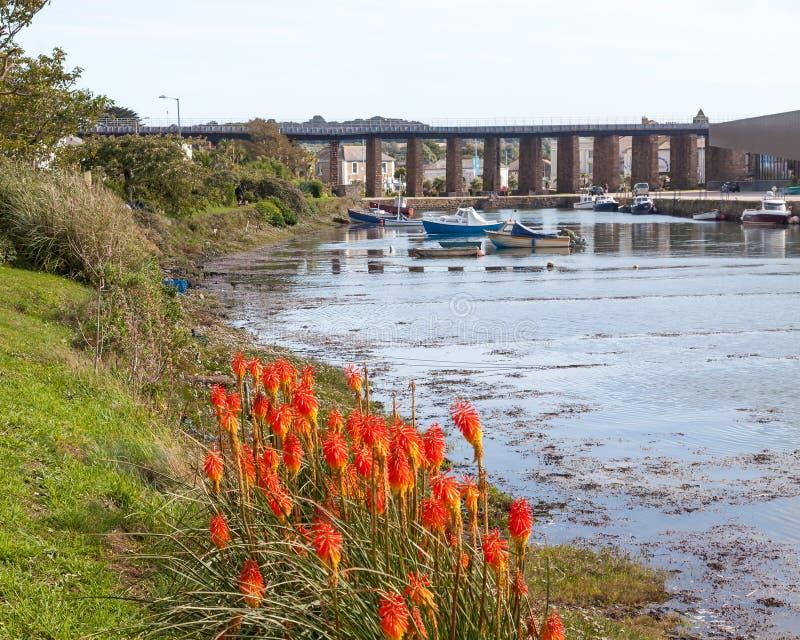 Hayle Harbor Cornwall England fotografia stock libera da diritti
