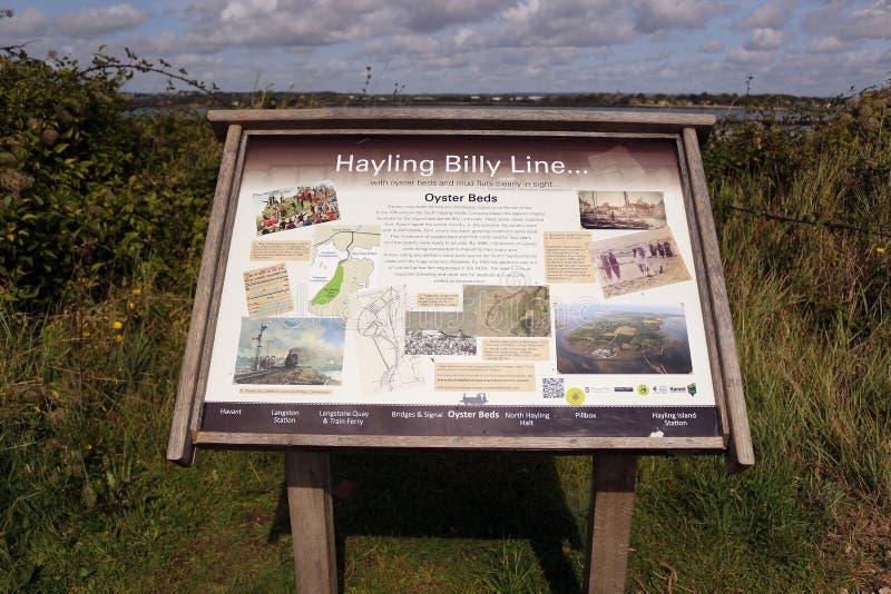 Hayling Billy Sign stockbilder