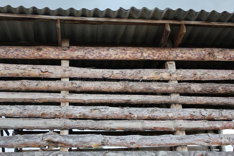 Hayloft ściana od drewnianego krakacza 30778 obraz stock