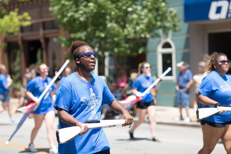 Haynes Apperson Parade fotografia de stock