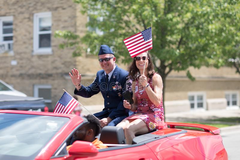 The Haynes Apperson Parade royalty free stock image