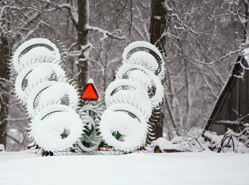 Hayrake della neve immagini stock