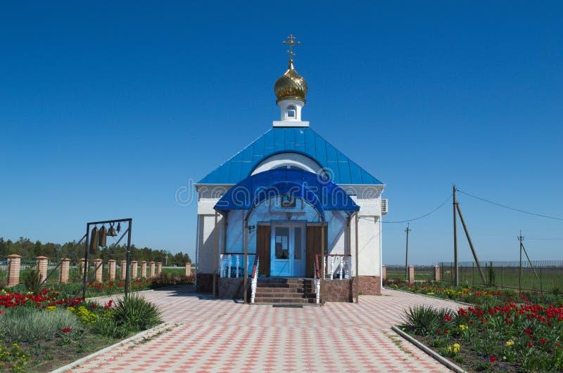 HAYSK,克拉斯诺达尔疆土/俄罗斯- 2017年4月28日:俄国寺庙 库存图片