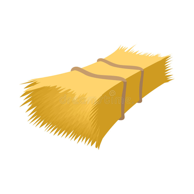 Haystack cartoon icon. On a white background royalty free illustration