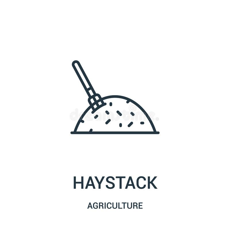 Haystack icon vector from agriculture collection. Thin line haystack outline icon vector illustration. Linear symbol for use on. Web and mobile apps, logo vector illustration