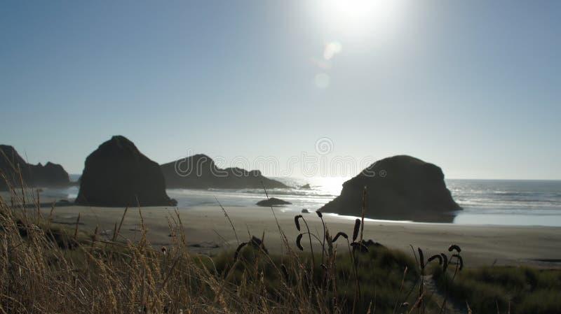 Haystack skały na Oregon linii brzegowej fotografia stock
