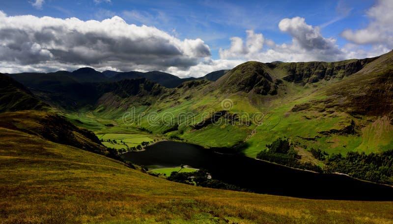 Haystacks, Wysoki Crag i Wysoki przełaz nad Buttermere, fotografia royalty free