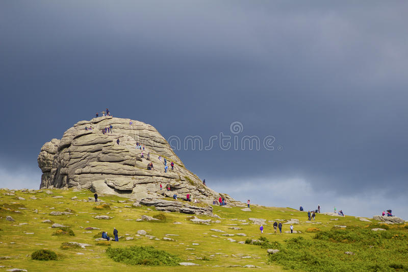 Haytor Rock Devon stock photography