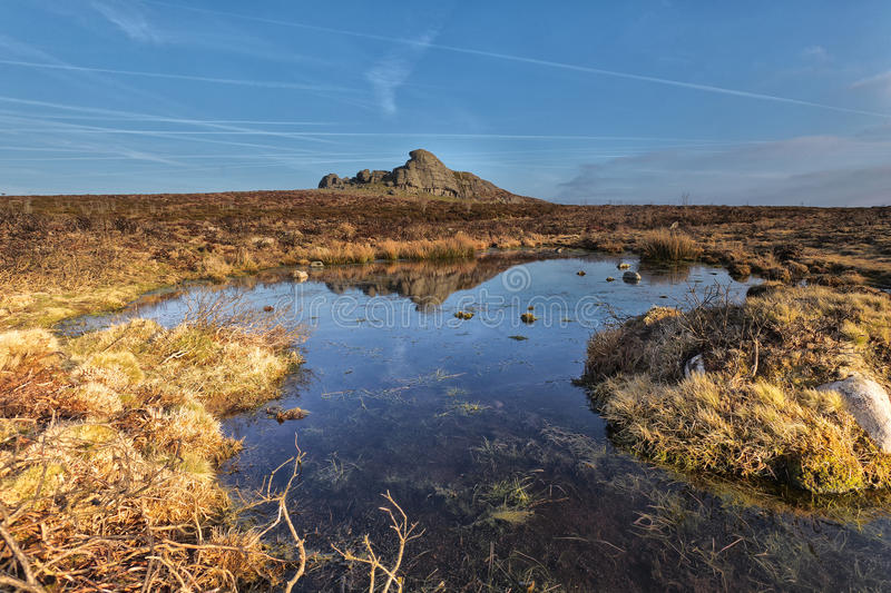 Haytor, stationnement national de Dartmoor image libre de droits