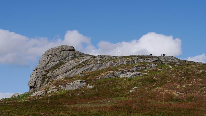 Haytorrots op het nationale Park van Dartmoor royalty-vrije stock fotografie
