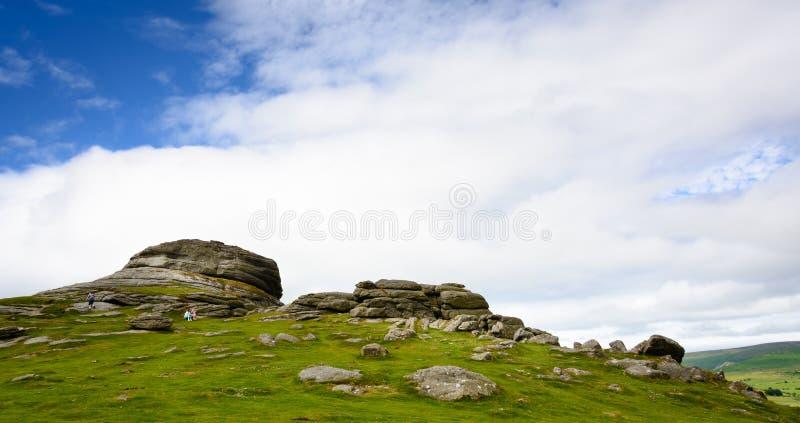 Haytorrotsen, Dartmoor (2) royalty-vrije stock fotografie