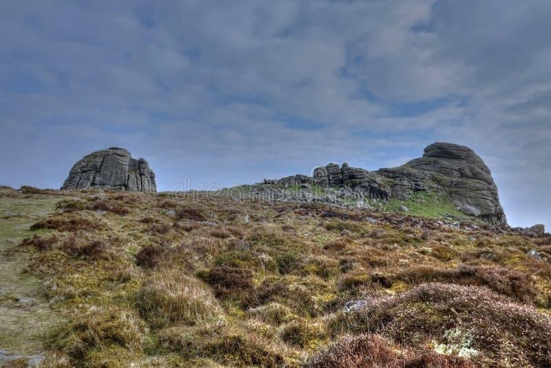 Haytorrotsen Dartmoor stock foto
