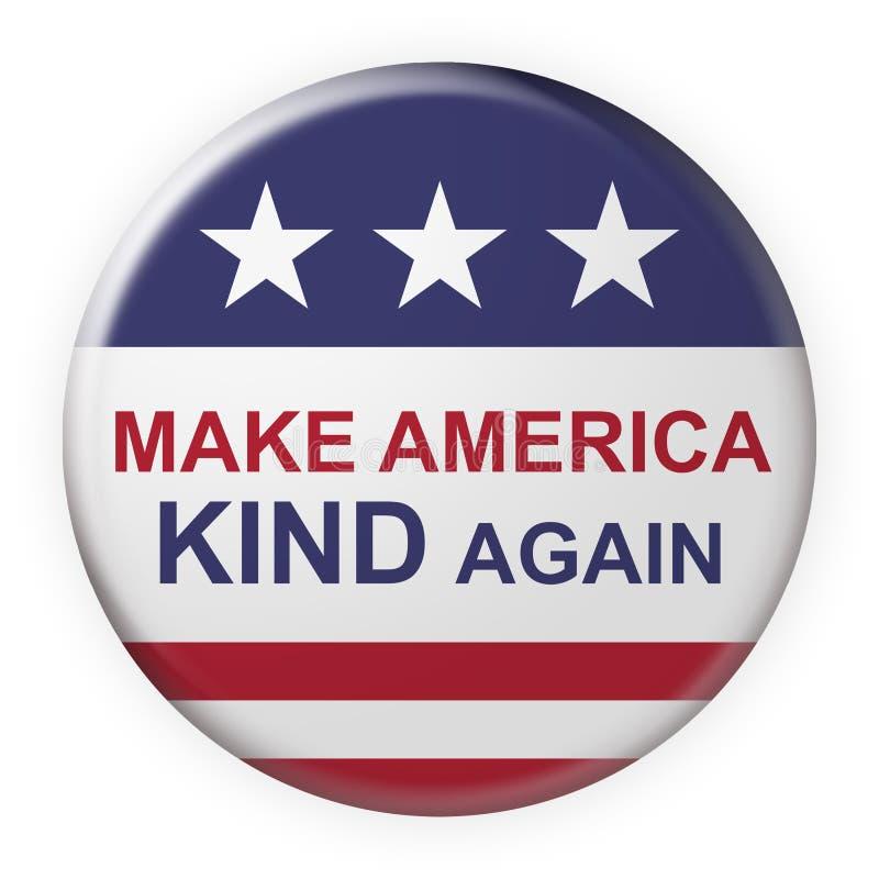 Haz que Estados Unidos vuelva a tocar el botón Motto con la bandera de Estados Unidos, ilustración 3d en fondo blanco libre illustration