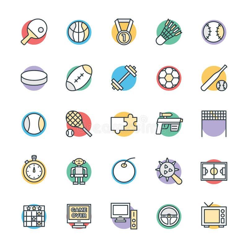 Hazard Chłodno Wektorowe ikony 4 ilustracji
