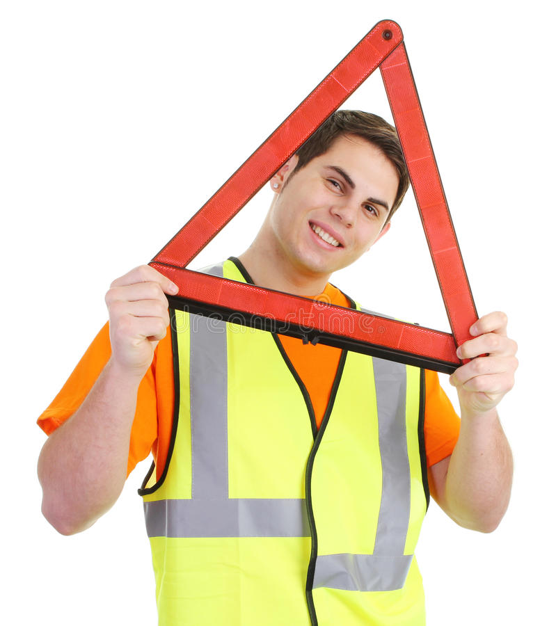 Download Hazard guy stock photo. Image of driver, road, accessory - 21980102