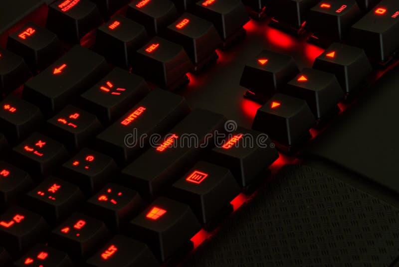 Hazard klawiatura z światłami obrazy royalty free