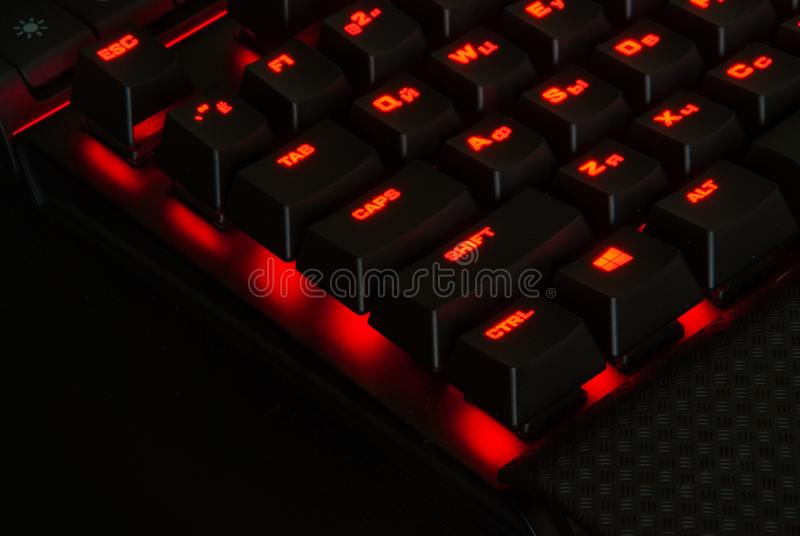 Hazard klawiatura z światłami zdjęcia royalty free