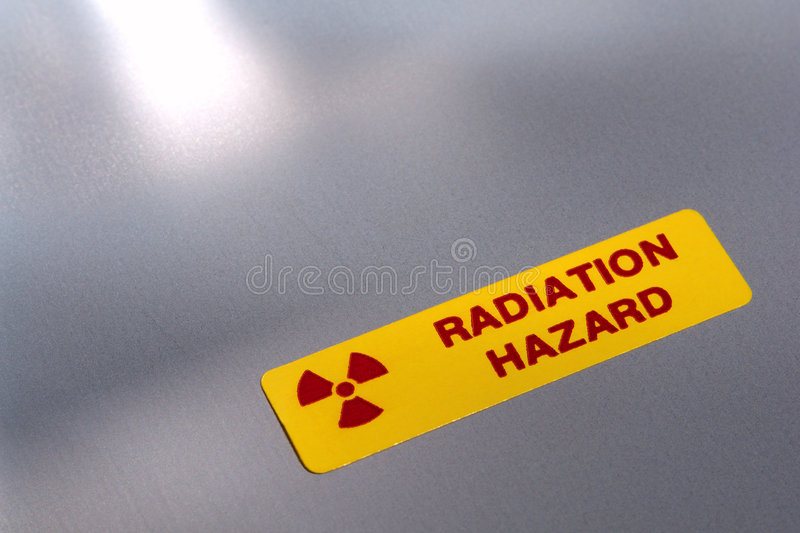 hazard label radiation warning 免版税库存照片