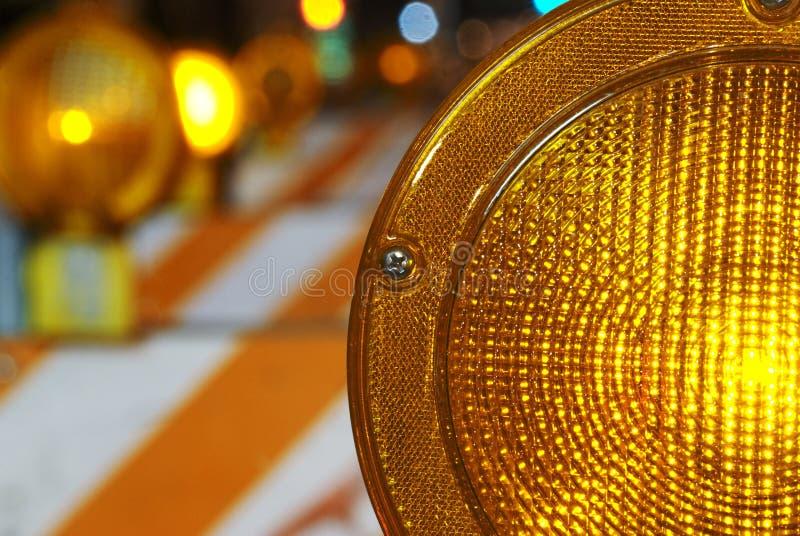 Orange Construction Or Hazard Light Royalty Free Stock Photography