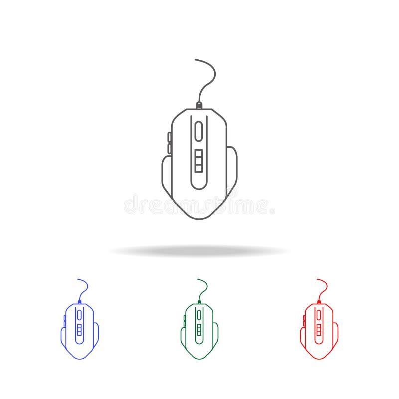 hazard myszy ikona Elementy gemowy życie w wielo- barwionych ikonach Premii ilości graficznego projekta ikona Prosta ikona dla st ilustracji