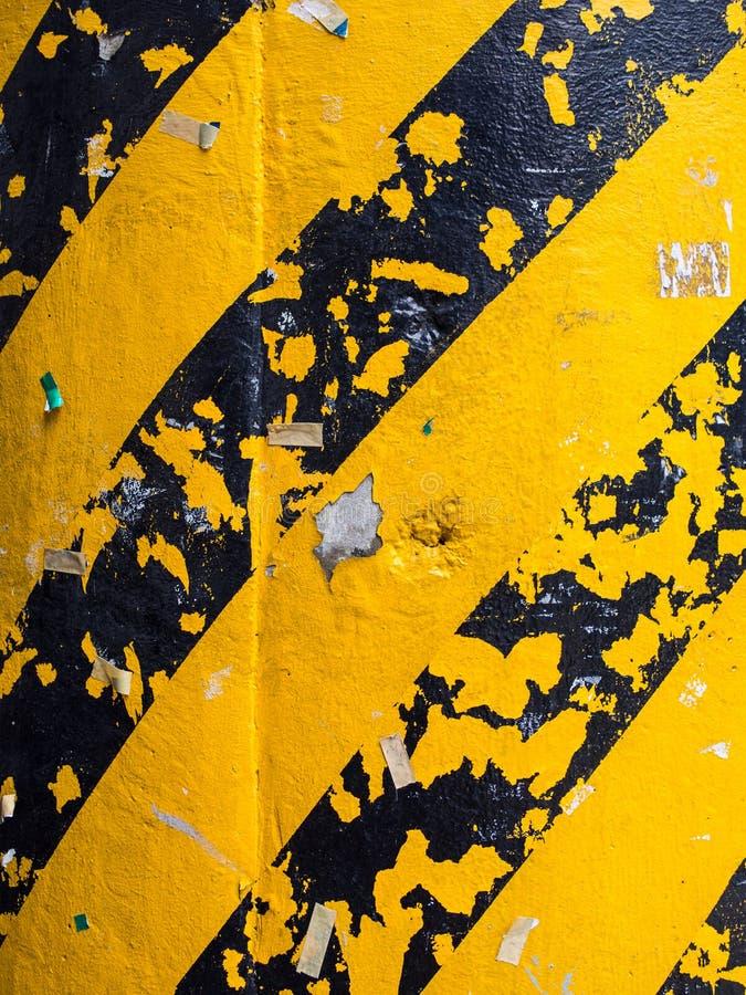 Hazard paint on pillar royalty free stock images
