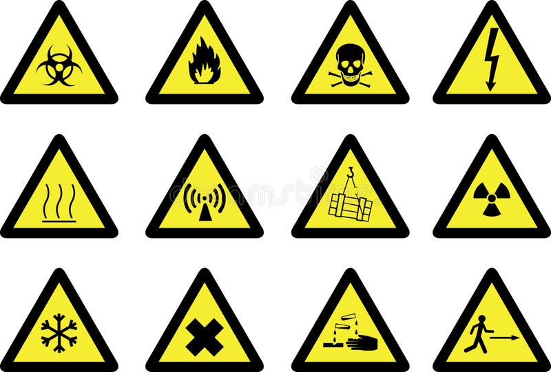 Download Hazard signs stock vector. Illustration of injury, nuclear - 10828176