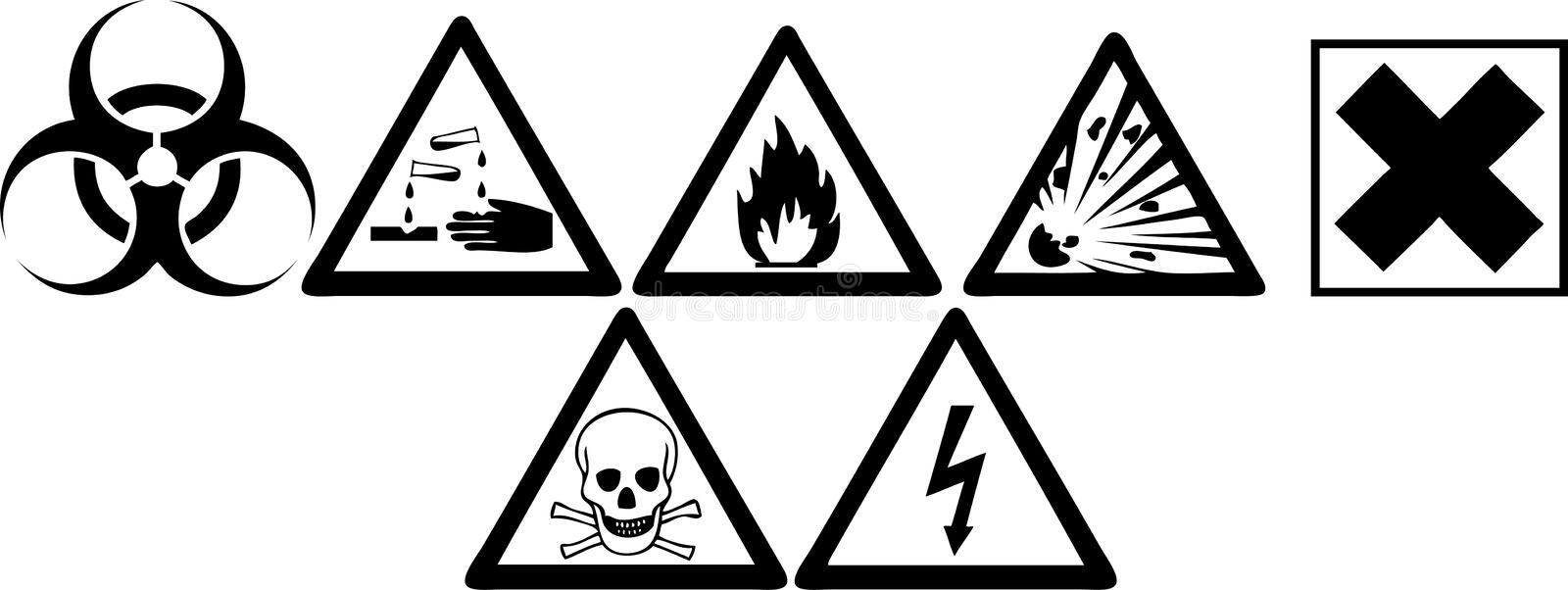 Download Hazard Signs stock vector. Illustration of sign, works - 12418910