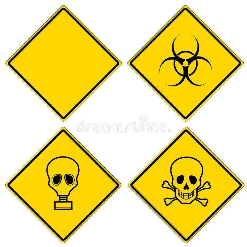 Download Hazard signs stock illustration. Image of contamination - 18163901
