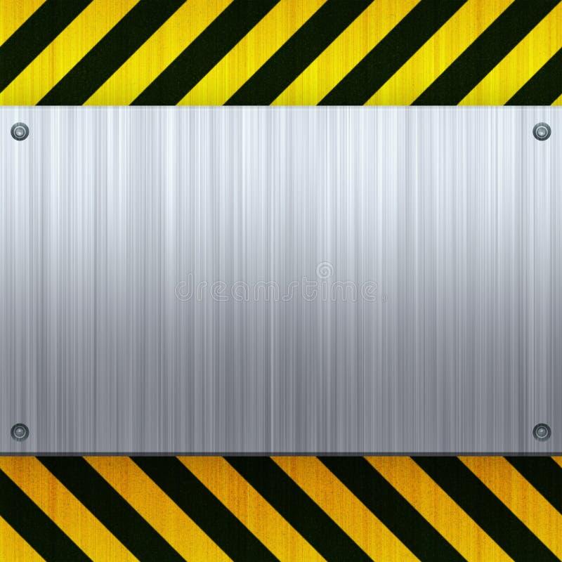 Hazard Stripes Brushed Metal vector illustration