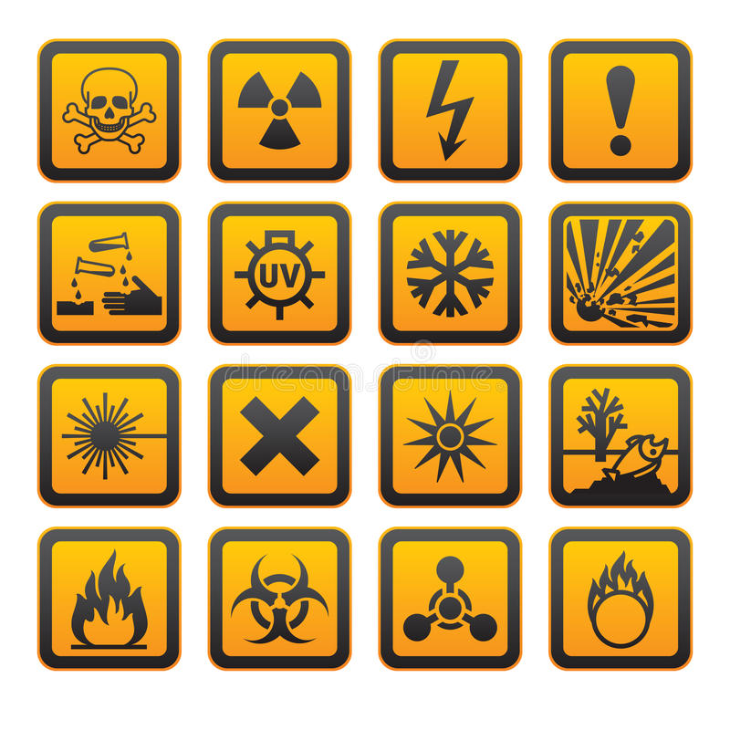 Free Hazard Symbols Orange S Sign Stock Photography - 19338742