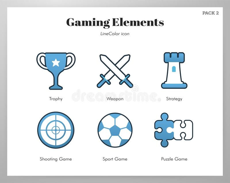 Hazard?w element?w LineColor ilustracja royalty ilustracja