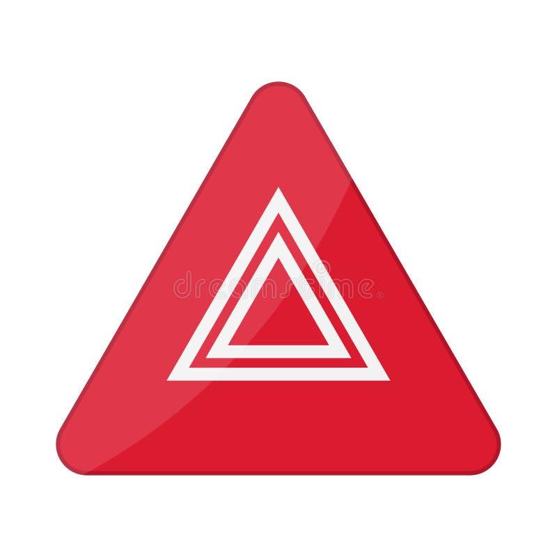 Hazard warning lights flashes button in car. Vector illustration stock illustration