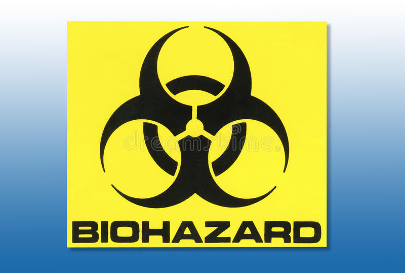 Hazard Warning Sign - Biohazard stock illustration