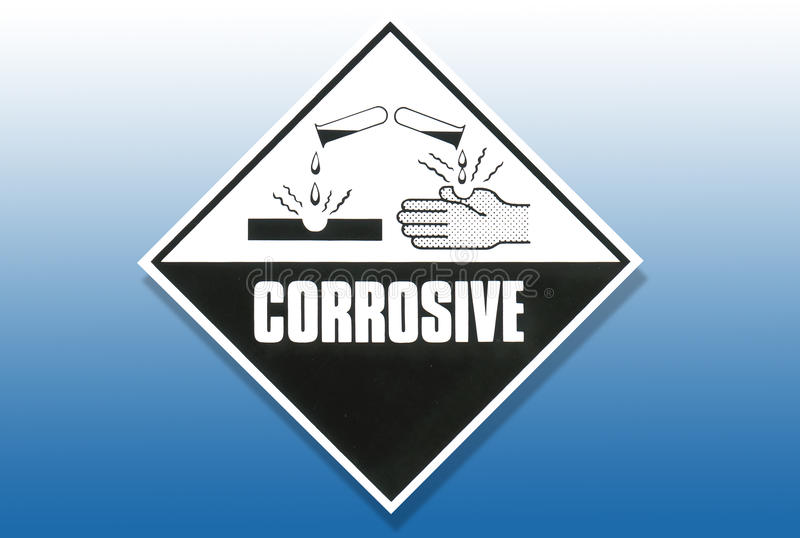 Download Hazard Warning Sign - Corrosive Stock Illustration - Illustration: 15392108